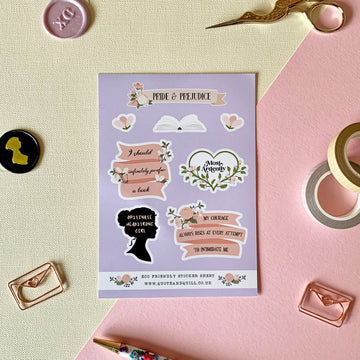 Pride and Prejudice Sticker Sheet