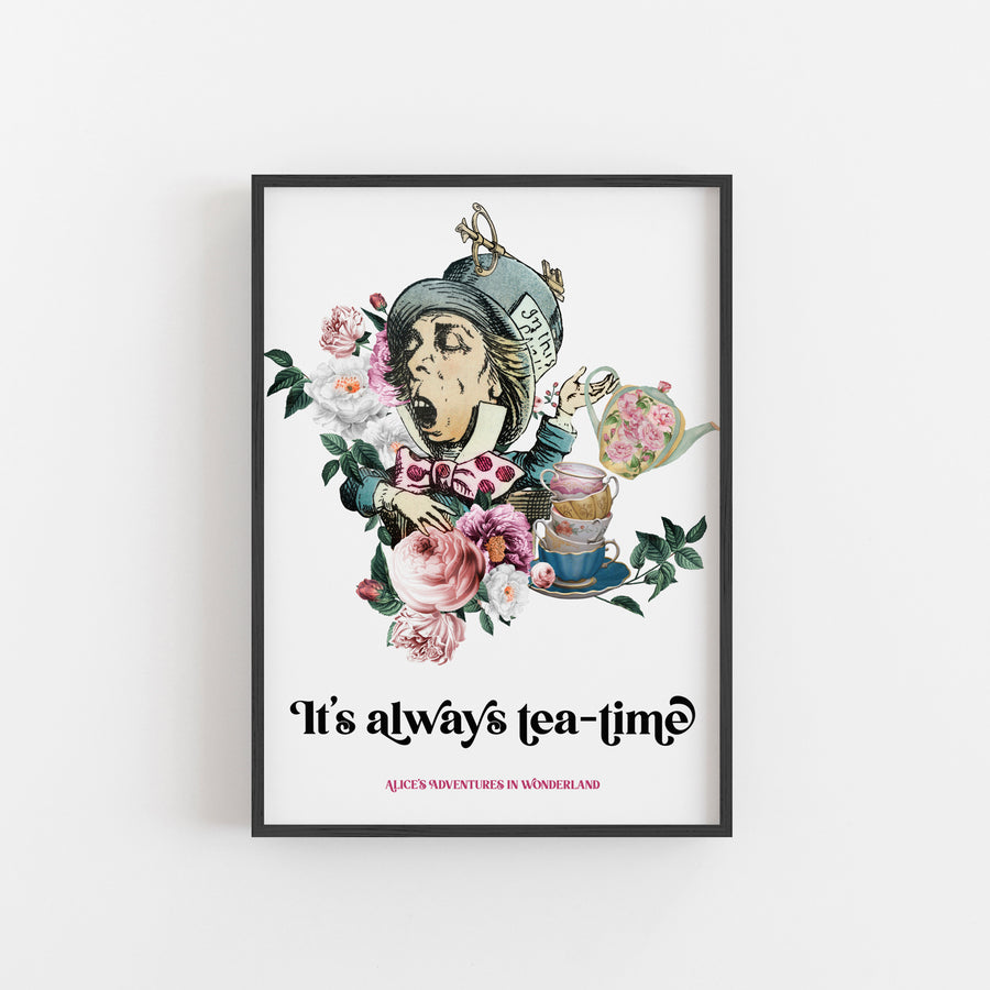 Alice's Adventures In Wonderland - 'Always Tea-Time' Print
