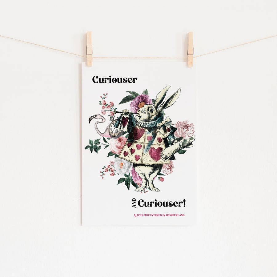 Alice's Adventures In Wonderland - 'Curiouser and Curiouser' Print