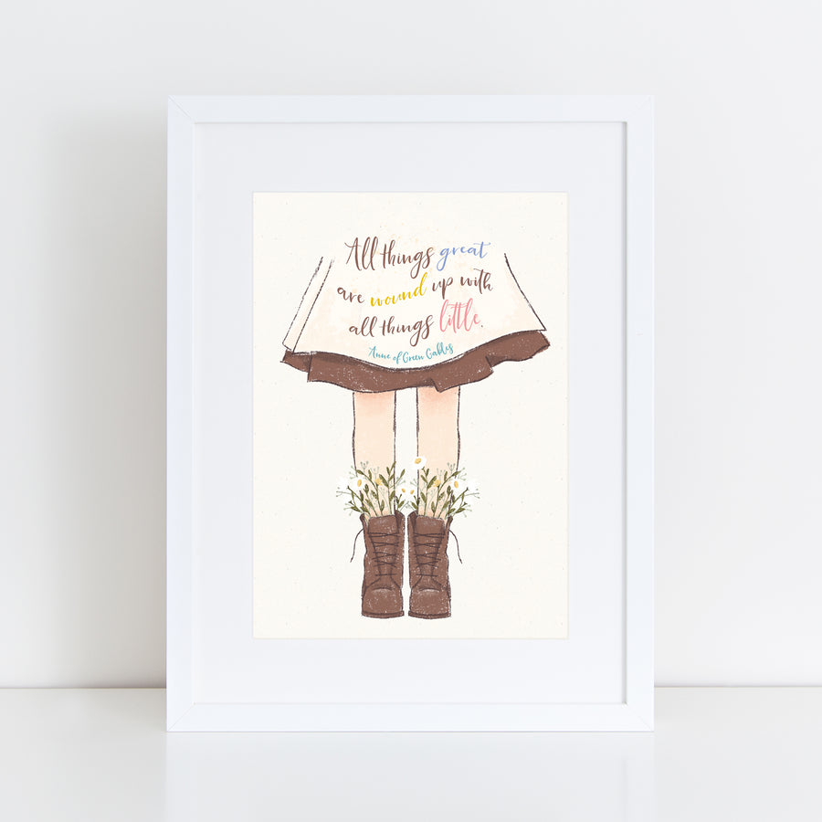Anne of Green Gables - 'All Things Great' Print
