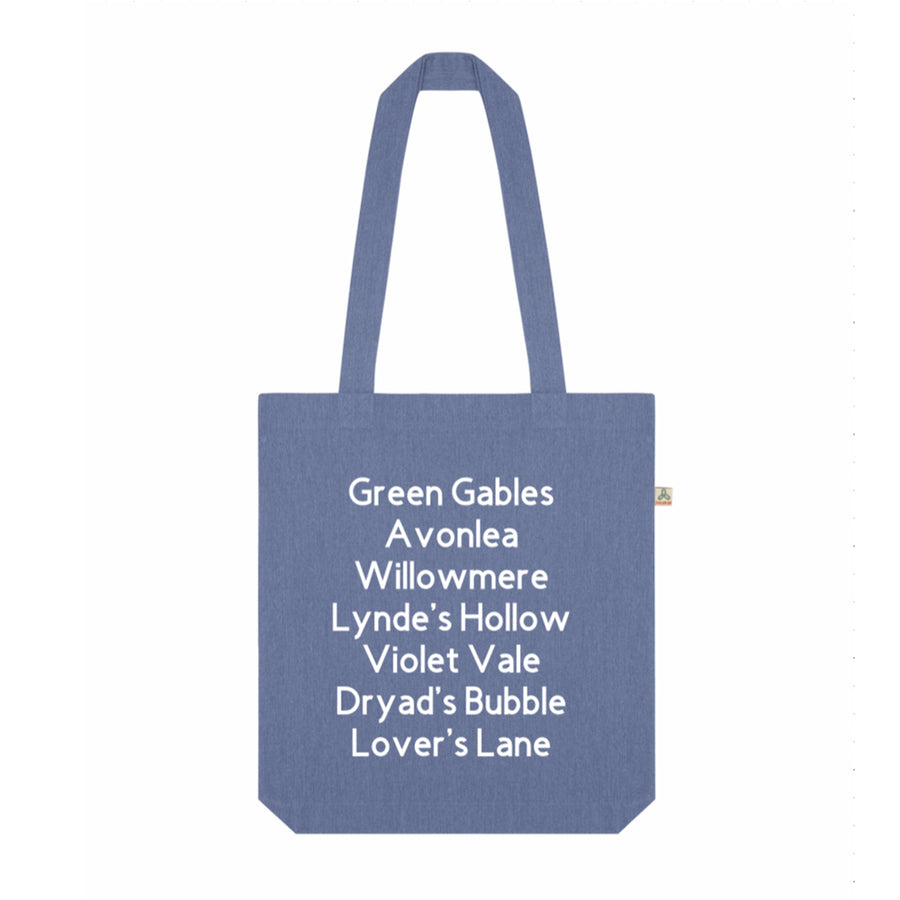 Anne of Green Gables Place Name Recycled Tote Bag