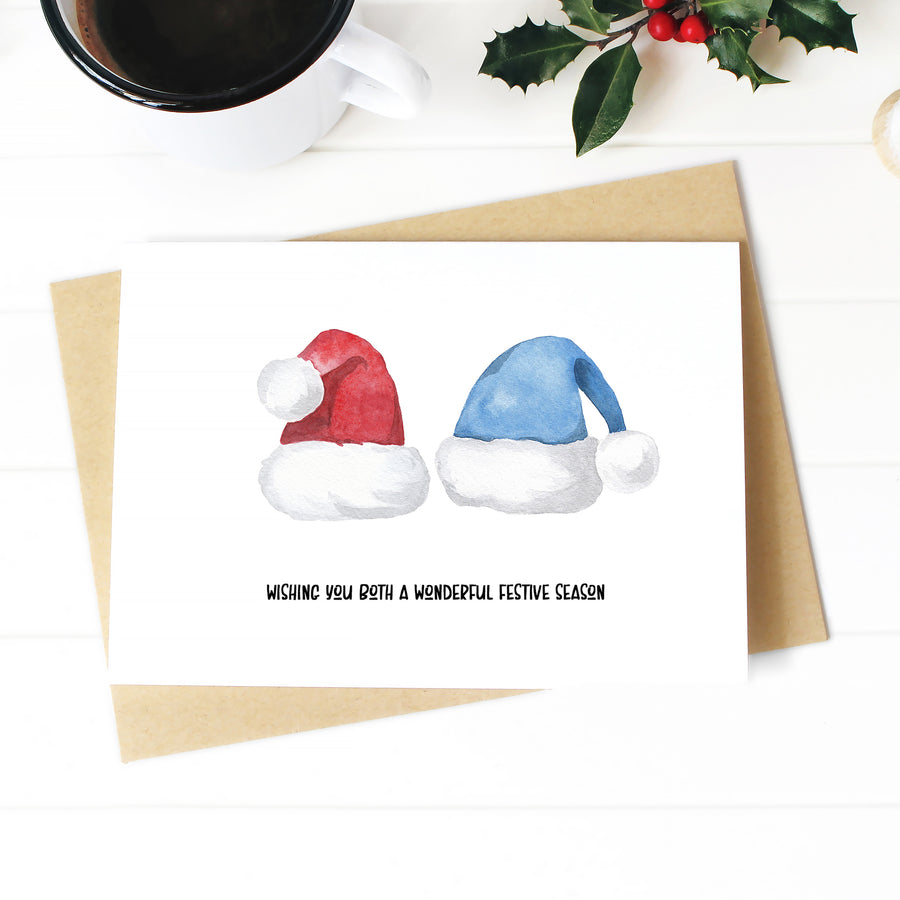 Santa Hats Christmas Card