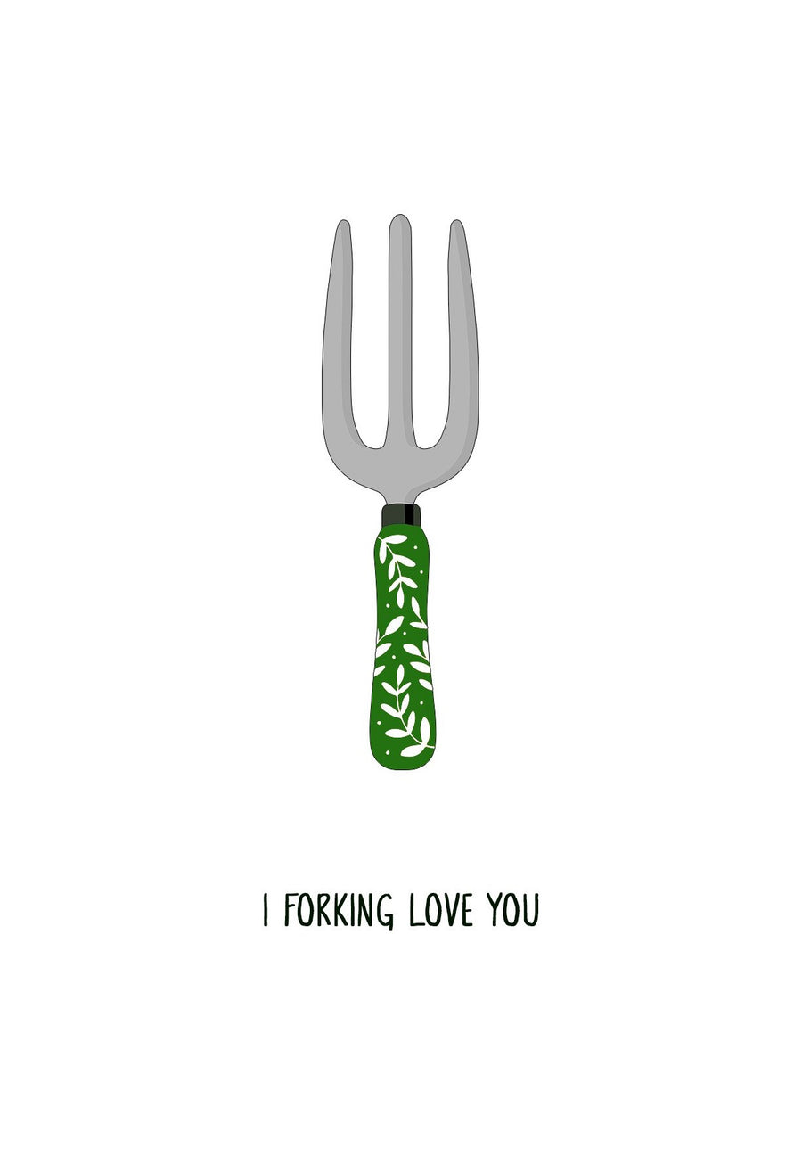 I Forking Love You Card