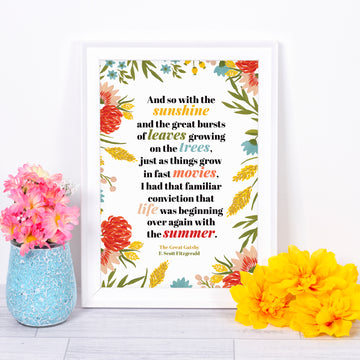 The Great Gatsby - 'And So With The Sunshine' Print