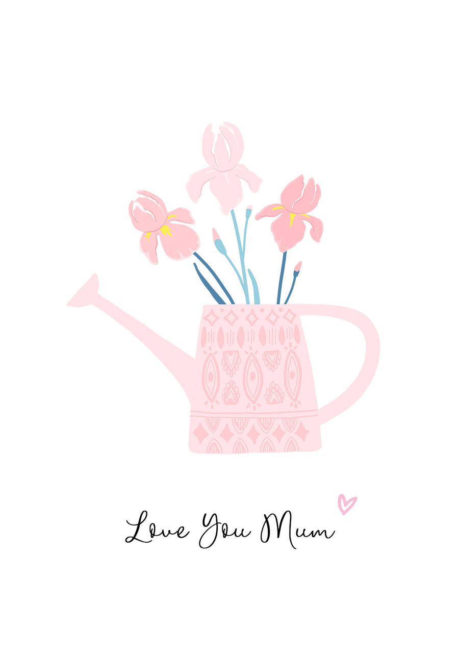 Flower Watering Can Mother's Day Card