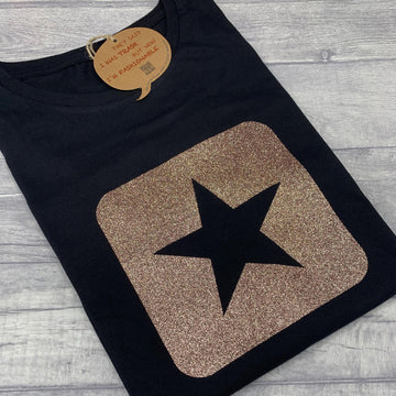 Glitter Star Recycled T-Shirt