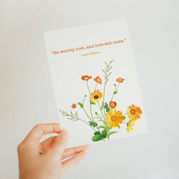 Little Women - 'Be Worthy Love' Postcard