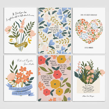 Literary Love Postcard Set
