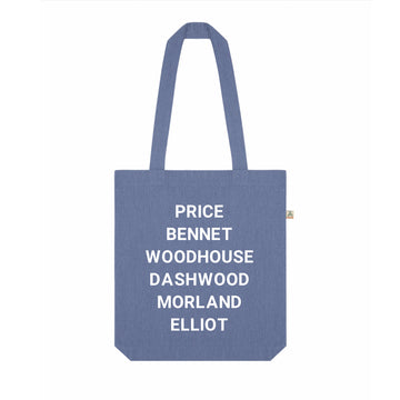 Jane Austen Heroines Recycled Tote Bag