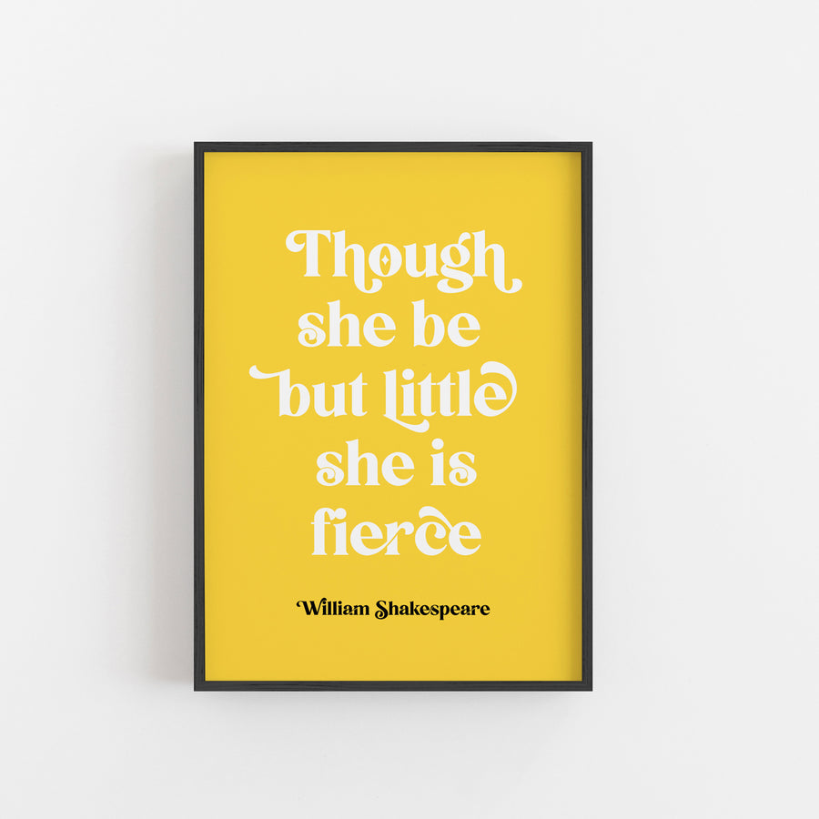 A Midsummer Night's Dream - 'She Is Fierce' Print