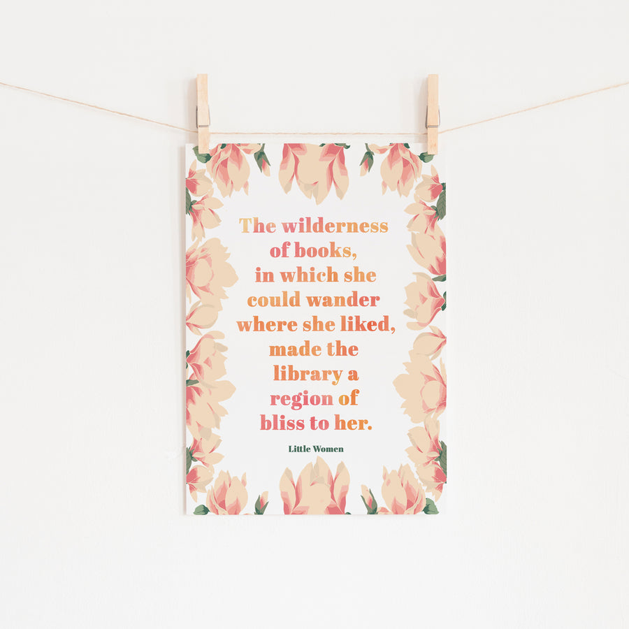 Little Women - 'The Wilderness Of Books' Print