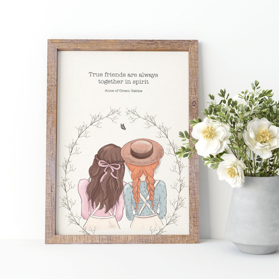 Anne of Green Gables - 'True Friends' Print