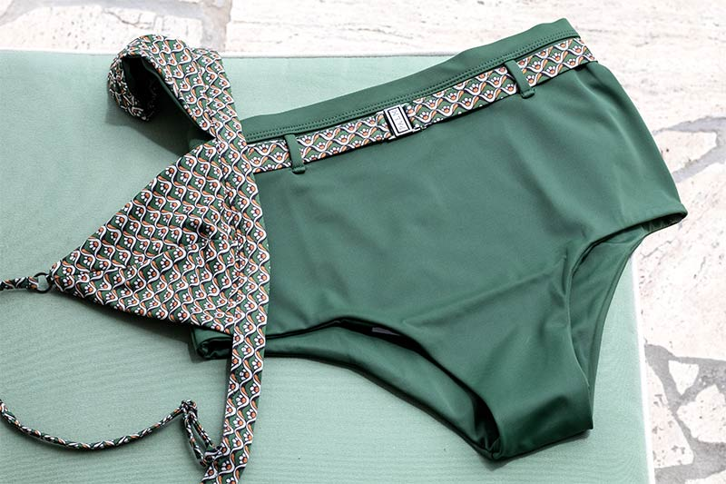 Palm Swimwear Green High Waisted Bikini