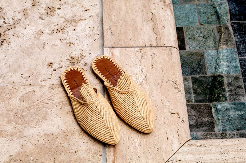 Raffia Shoes Moroccan