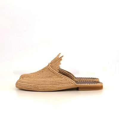 Beach Luxe Adilah Raffia Mule Shoes 36