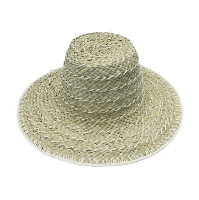 Beach Luxe Cali Crochet Hat - White Hat
