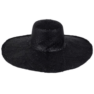 Beach Luxe Hamptons Woven Hat - Black Hat
