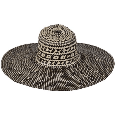 Beach Luxe Hamptons Woven Hat - Monochrome Hat