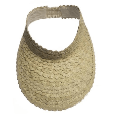 Beach Luxe Havana Sun Visor - Natural Hat