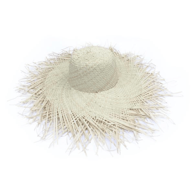 Beach Luxe Venice Frayed Hat - Natural Hat