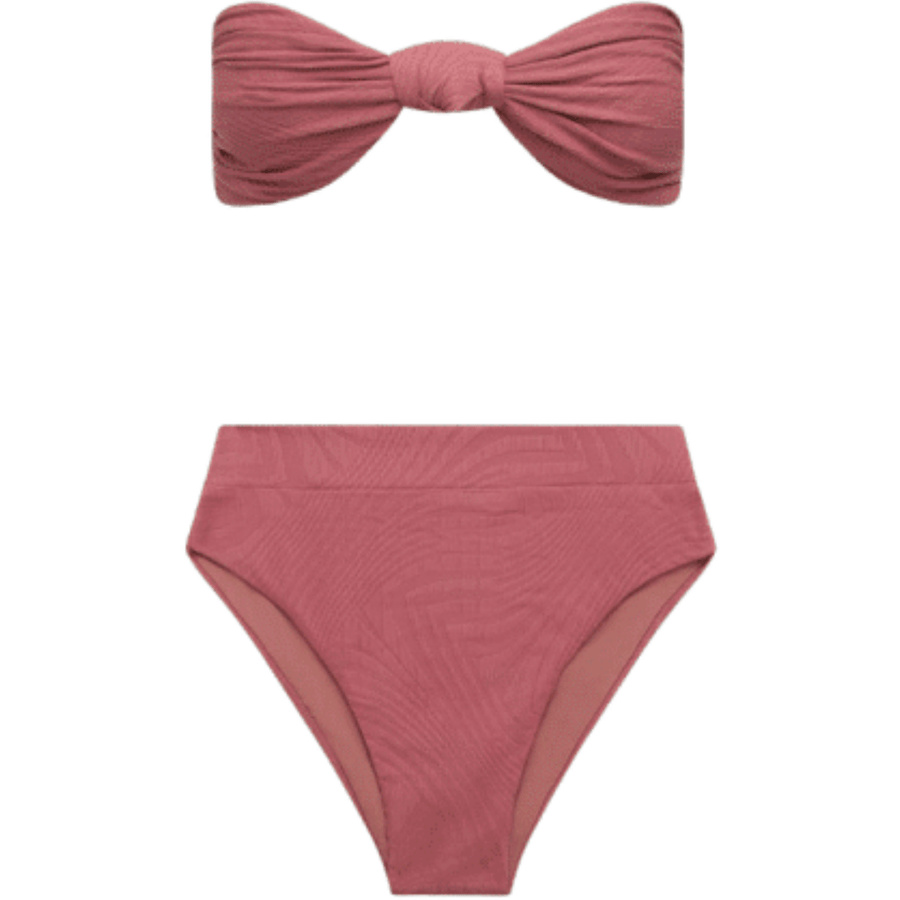 Hubert High Waist Bottom - Deco Rose