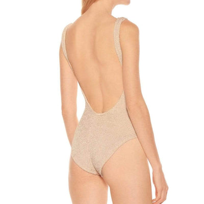 Hunza G Square Neck One Piece - Nude One Piece