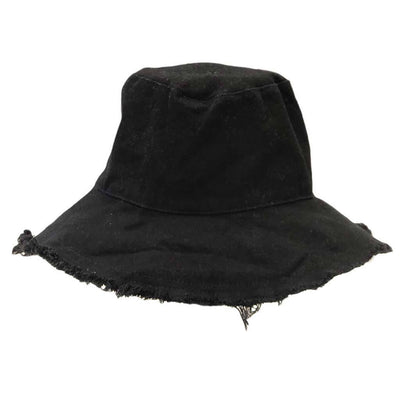 Womens Black Bucket Hat Cotton Dune