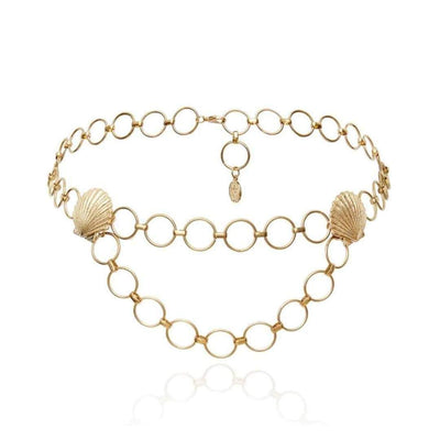 Isla Scott Shell Chain Belt - Gold Jewellery