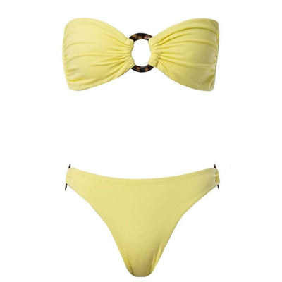Palm Swimwear Perla Bikini Bottom Yellow