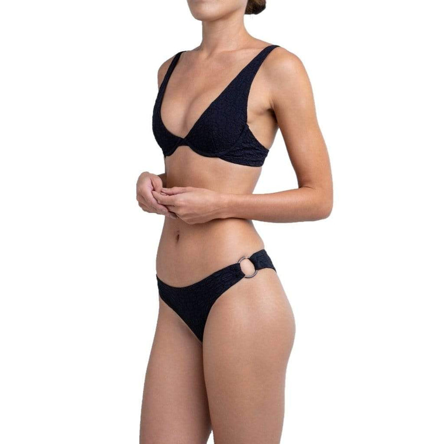 Palm Swimwear Black Sierra Bikini Top