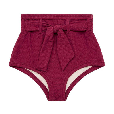 Peony Swimwear Sangria High Waisted Bikini Bottoms