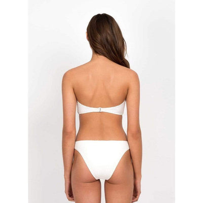 Peony Swimwear White Sonnet Bikini Bottom Back