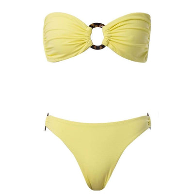 Palm Swimwear Perla Bikini Top Yellow