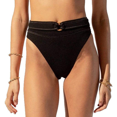 Suboo Kaia Super High Cut Bottom - Black Bottoms