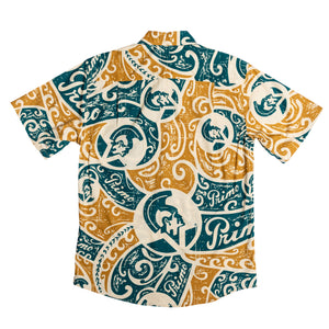 PRIMO TRIBAL Slim Fit Hawaiian Shirt