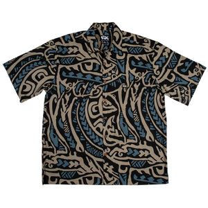 PAHOEHOE Classic Fit Hawaiian Shirt