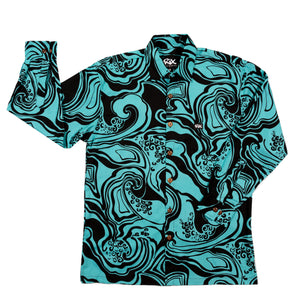 WAIMEA Long Sleeve Hawaiian Shirt