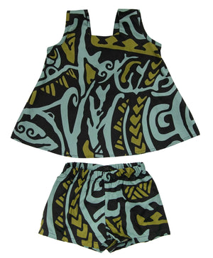 PAHOEHOE Seafoam Girls Set