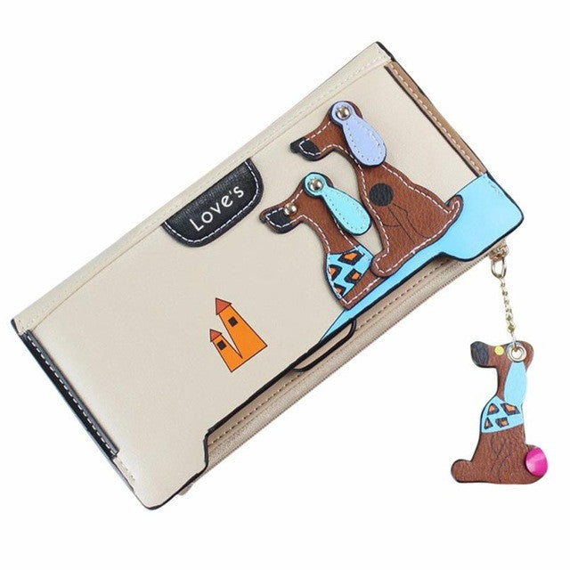 Women's Cute Puppy Dog Cartoon Coin Purse