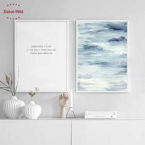 Nordic Abstract Painting & Quote Wall Art Prints