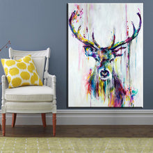 Watercolor Deer Head Posters