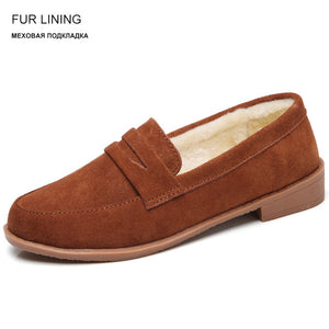 Women's Spring Suede Leather Slip on Flats