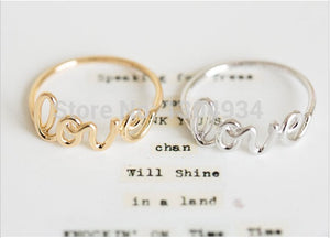 Women's Alloy Love Letters Friendship Ring
