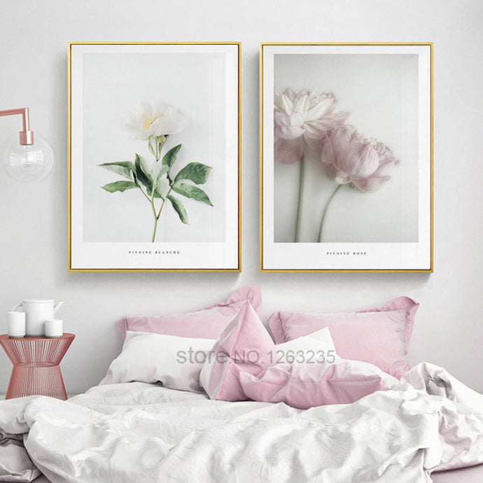 Pink Flower Wall Art Prints
