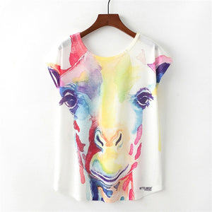 Women's Blue Unicorn Summer Tee