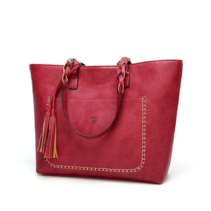 Women's Retro Tassel Shoulder Bag