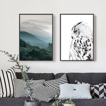 Forest, Black And White Owl Wall Art Posters
