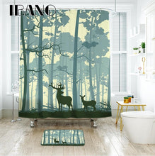 Forest Elk Waterproof Shower Curtain