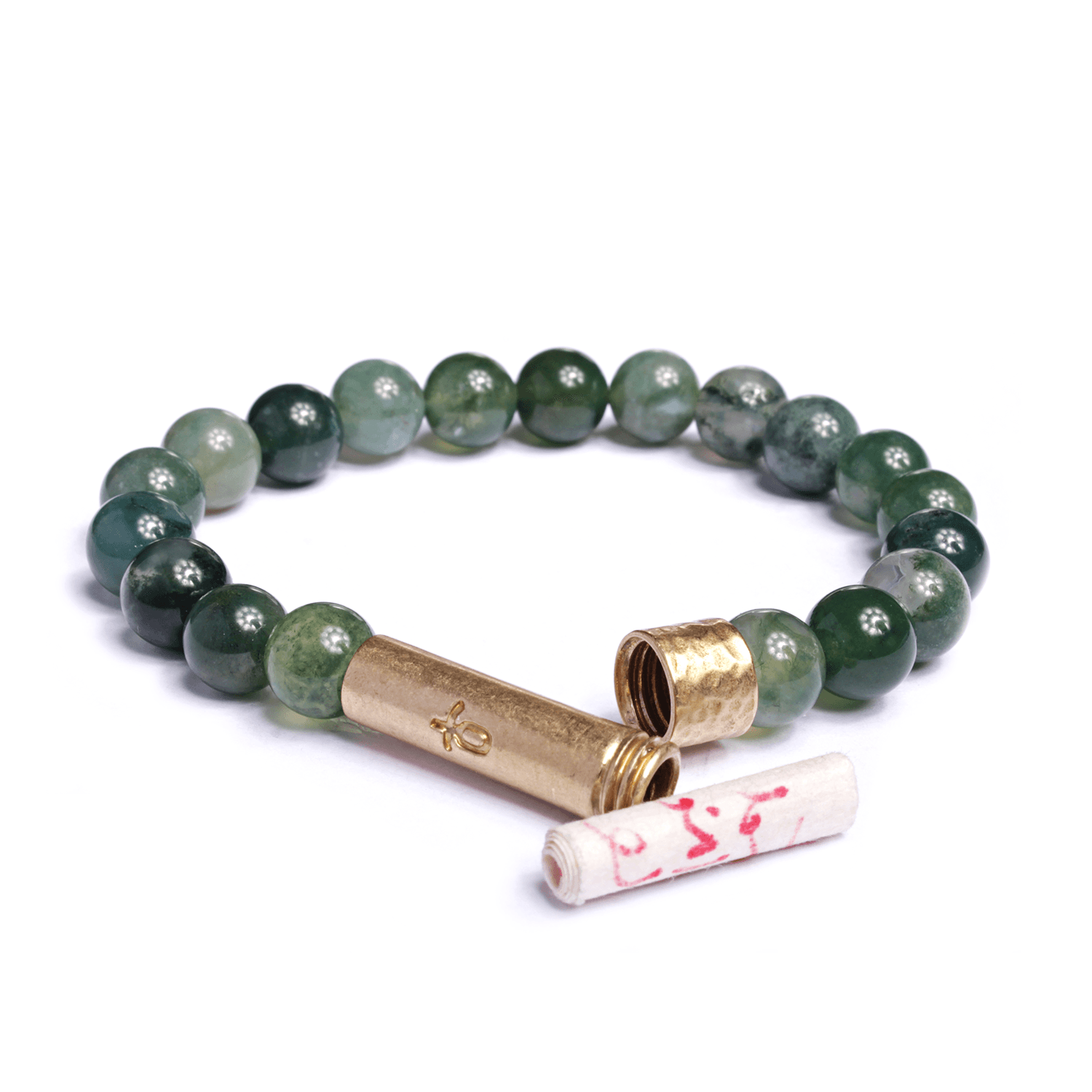 Polished Grass Agate Bracelet