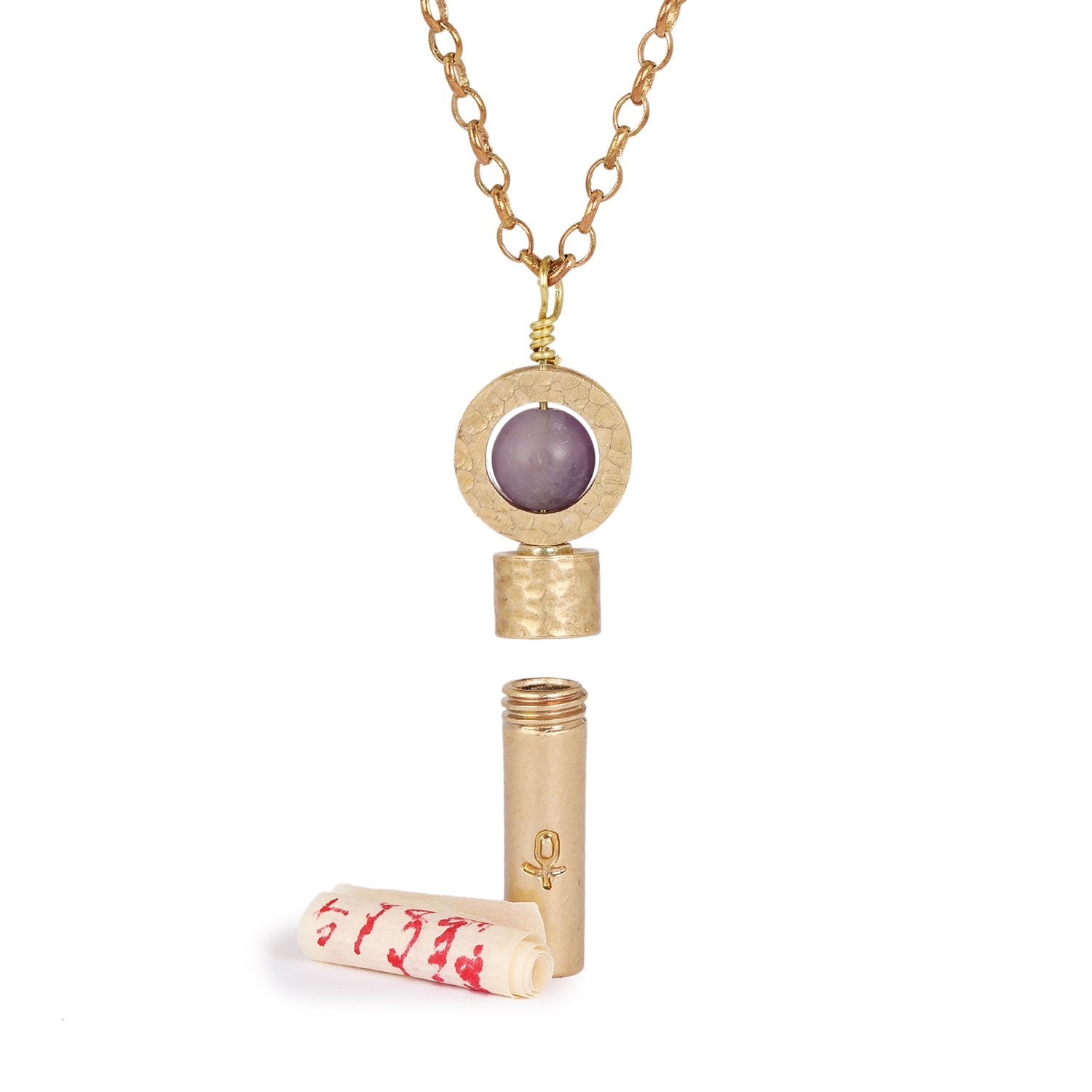 Image of Matte Amethyst Necklace